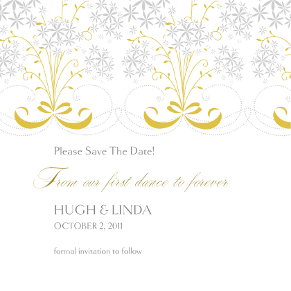 Save the Date Card - Star Flowers