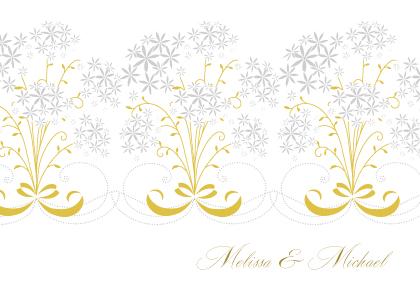 Wedding Thank You Card - Star Flowers