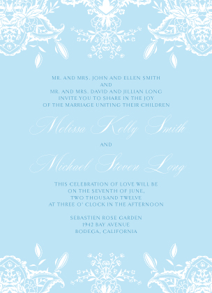Wedding Invitation - Ornate Lilies