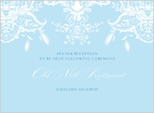 Reception Card - ornate lilies