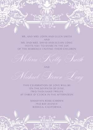 Wedding Invitation - Ornate Lilies