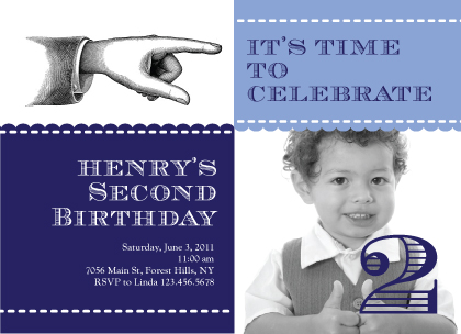 Birthday Party Invitation with photo - Talk to the Hand