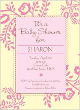 Baby Shower Invitation - flower shower