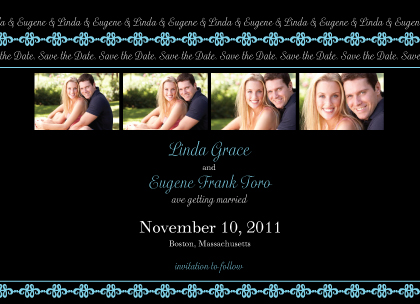 Save the Date Card with photo - Twilight Nights