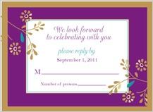 Response Card - golden flowers