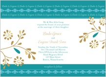 Wedding Invitation - turquoise dreams
