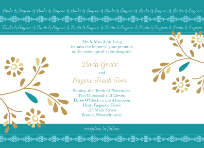 Wedding Invitation - Turquoise Dreams