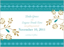 Save the Date Card - turquoise dreams