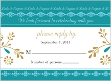 Response Card - turquoise dreams