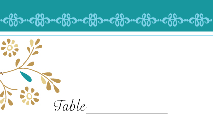 Place Card - Turquoise Dreams