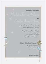 Wedding Invitation - quiet flowers