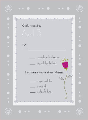 Response Card - quiet flowers