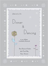 Reception Card - quiet flowers