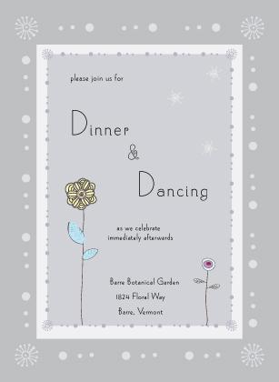 Reception Card - quiet flowers