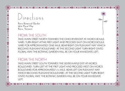 Direction - quiet flowers