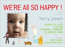 Birth Announcement with photo - we're so happy