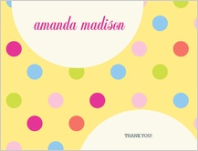 Baby Thank You Card - yummy dots