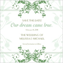 Save the Date Card - tulip scrolls