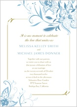 Wedding Invitation - summer lilies
