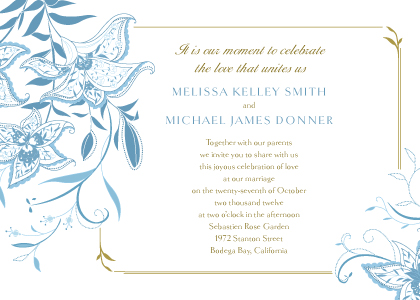 Wedding Invitation - Summer Lilies