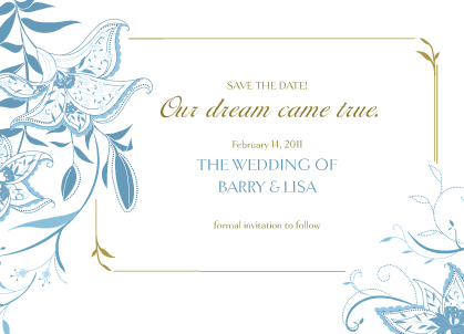 Save the Date Card - Summer Lilies