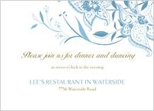 Reception Card - summer lilies