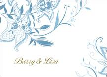 Wedding Thank You Card - summer lilies