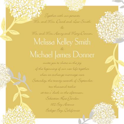 Wedding Invitation - Meadowsweet