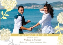 Save the Date Card with photo - meadowsweet