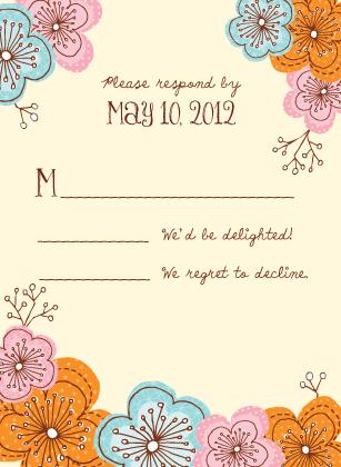 Response Card - Doodle Floral