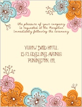 Reception Card - doodle floral