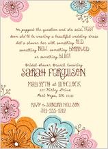 Wedding Shower Invitation - doodle floral