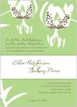 Wedding Invitation - modern tiger lily