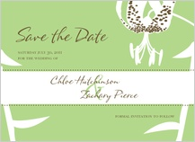 Save the Date Card - modern tiger lily