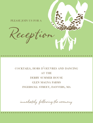 Reception Card - Modern Tiger Lily