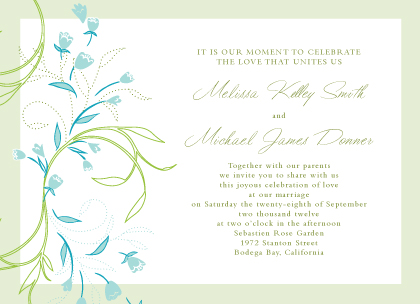 Wedding Invitation - Tulip Bouquets