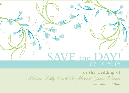 Save the Date Card - Tulip Bouquets