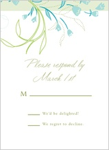 Response Card - tulip bouquets