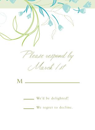 Response Card - Tulip Bouquets