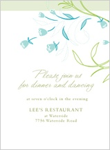 Reception Card - tulip bouquets