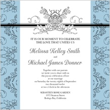 Wedding Invitation - lace and ribbon