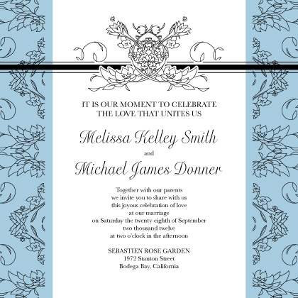 Wedding Invitation - Lace and Ribbon