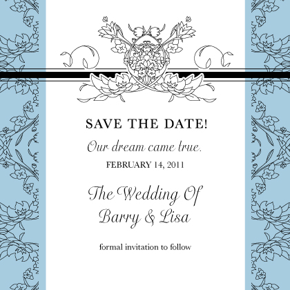 Save the Date Card - Lace and Ribbon