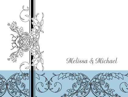 Wedding Thank You Card - Lace and Ribbon