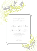 Wedding Invitation - leafy vines