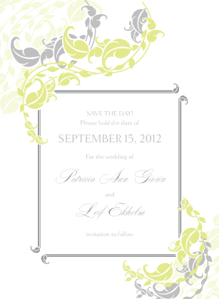 Save the Date Card - Leafy Vines