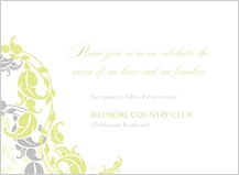 Reception Card - leafy vines