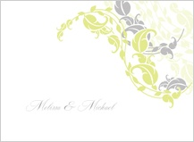 Wedding Thank You Card - leafy vines
