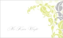 Place Card - leafy vines