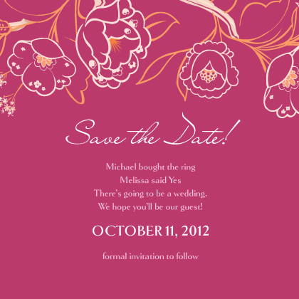 Save the Date Card - Blooming Branches